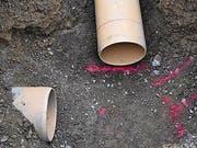 Durchmesser der Regenwasserleitung: 35 Zentimeter.