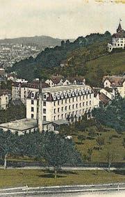 Textilfabrik 1906. Die Zufahrt lag an der Hochwachtstrasse. (Bilder: Sammlung Reto Voneschen)