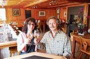 Monika und Harry Hörler sagen dem «Schwanen» Adieu. (Bild: René Bieri)