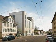 Der Neubau entsteht an der Rorschacher Strasse zwischen den Bushaltestellen Krontal und Grütlistrasse. (Bild: Visualisierung: pd)