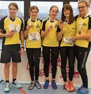 Die «UBS Kids Team»-U16-Girls: (v. l.) Elea Rüegg, Julia Hutter, Alina Motzer, Nicole Kluser und Nina Leuener. (Bild: pd)