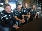 Simon Storm (2.v.l.) kehrt zum FC St.Gallen zurück. (Bild: (pl))