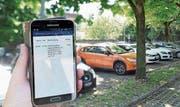 Bargeldloses Bezahlen der Parkgebühren ist im Rheintal auch ohne App möglich. (Bild: Archiv/Max Tinner)
