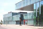 Der Haupteingang zum Würth Haus Rorschach vis-à-vis des Bahnhofs. (Bild: pd)