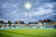Die Wolken über der IGP-Arena verziehen sich: Der FC Wil muss betreffend Licht mit keinen weiteren Sanktionen rechnen. (Bild: Urs Bucher)