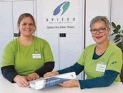 Ruth Kolb (rechts) übergibt die Leitung der Spitex Am Alten Rhein an Anthea Baumann. (Bild: pd)