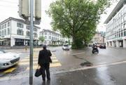 Parkhaus Schibenertor: Das zweite grosse Parkhaus-Projekt in der Stadt wurde öffentlich aufgelegt und abgelehnt. (Bild: Hanspeter Schiess)