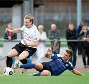 Die erste Cuprunde haben Lars Ivanusa (links) und der FC Rorschach-Goldach heil überstanden. (Bild: Ralph Ribi)