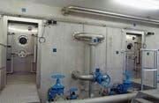 Die beiden Wasserkammern des Reservoirs Wald mit total 450 Kubikmetern wurden in den Boden gebaut. Mit diesen ist der Bedarf an Brauchwasser sowie eine Reserve für Löschwasser gedeckt. (Bild: Markus Schildknecht)