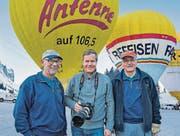 Eugen Nussbaumer, Alex Bayer und Andreas Frank vor dem Start zur Fahrt über den Säntis. (Bild: pd/Visionstudios Balgach)