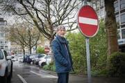 """Martin Boesch am Schibenertor: """"Einfahrt verboten"""", hiess es für ihn an seiner letzten Verwaltungsratssitzung der Cityparking AG. (Bild: Ralph Ribi)"""