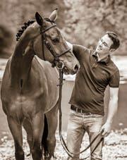 Bruno Fuchs mit seinem Hannoveraner-Wallach Adomos. (Bild: PD)