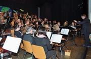 Die MG Berg auf ihrer musikalischen Reise. (Bild: Ramona Riedener)