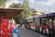 Nicht nur Grünflächen wie der Botanische Garten, sondern auch der Buswendeplatz Neudorf sind Bausteine des geplanten Grünzugs Ost. (Archivbild: Coralie Wenger)