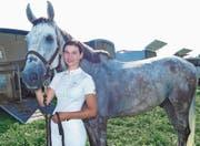 Die Schweizer Meisterin bei den Junioren, Salome Keller, sprang in Diepoldsau mit Pferd Chrigel II. (Bild: Ulrike Huber)