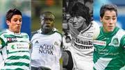 Die bislang teuersten FCSG-Spieler: Moreno Costanzo, Charles Amoah, Ivan Zamorano und Oscar Scarione (v.l.n.r) (Bild: Michel Canonica/Meinrad Schade/Keystone/Urs Jaudas)