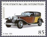 Die Oldtimer-Briefmarke mit dem fehlenden Bindestrich. (Bild: pd)