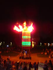 Le silo: Multimedia-Pyro-Performance im Museumsquartier. (Bild: pd)