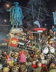 Ins Fasnachtsparadies befördert wird die neue Ehren-Födlebürgerin am Samstag mit der Konfettikanone. (Bild: Urs Bucher)