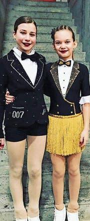 Gioia Sieber und Mara Piccinelli (v. l.) klassierten sich in ihrer Stärkeklasse in den Top 10. (Bild: pd)