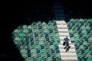 Seit 2012 sinken die Zuschauerzahlen des FCSG stetig. (Bild: Benjamin Manser)