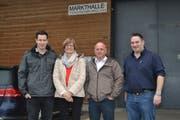 Die Referenten beim Kurs «Planung der Hofübergabe», Peter Künzler, Seline Heim, Peter Weiss und Reto Meile (von links). (Bild: Adi Lippuner)