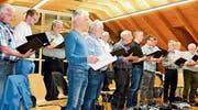 Der Männerchor bereitet sich gewissenhaft auf die Unterhaltung vor. (Bild: pd)