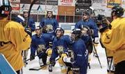Nach der Sommervorbereitung freuen sich die Spieler, wieder auf dem Eis zu sein. (Bild: pd)