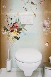Die von Architekt Roger Bechtiger sanierte Damentoilette im Restaurant «Naz» an der Schmiedgasse. (Bilder: Benjamin Manser)