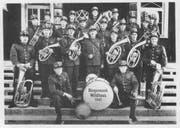 So sah die Bürgermusik Wildhaus im Jahre 1947 aus. (Bild: PD)