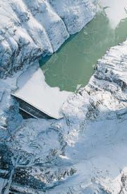 Die Staumauer und der Speichersee des Kraftwerks Grande Dixence. (Bild: Alpiq)
