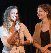 Glückliche Gewinnerinnen: Désirée Gnaba und Catherine Heeb. (Bild: Luca Linder)