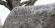 Der Findling wurde 1986 – 150 Jahre nach der Volksversammlung für mehr Demokratie – im Beisein von Bundesrat Kurt Furgler als Gedenkstein gesetzt. Als Ort von geschichtlicher Bedeutung ist der Weidegg-Park fast eine Pflichtstation auf dem «Ortshistorischen Weg». (Bilder: Andrea Häusler)