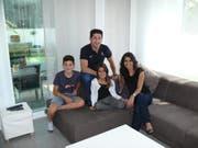 Familie Sarac aus Diepoldsau: Furkan, Ömer, Tuana und Meryem. (Bild: Bea Sutter)