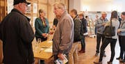 Die erste Tischmesse für ambulante Dienstleistungen stiess auf Interesse. (Bild: Patricia Wichser)