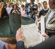 Auch handschriftliche Dokumente gehören zur Hinterlassenschaft. (Bild: Urs Bucher (Urs Bucher))