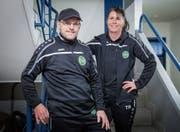 Ueli und Silvia Heeb bilden das Trainergespann des NLB-Teams von St. Gallen-Staad. (Bild: Urs Bucher)