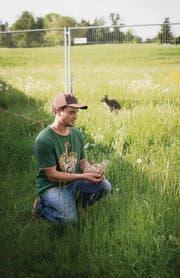 Auf Stefan Krapfs Hof leben auch exotische Tiere. Sie will er am Engihof-Fest vorstellen. (Bild: Peer Füglistaller)