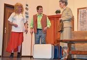 «Evis» treffen aufeinander: Martin Eberhard und die «Dienstältesten» Esther Brunner und Kilian Stillhart (von links). (Bild: PD)