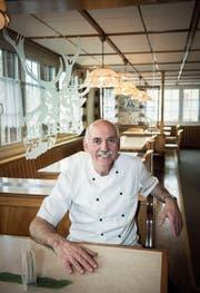 «Als Kind war ich nie gern im Restaurant», sagt Werner Trunz, der seit 1980 bis auf einen zweieinhalbjährigen Unterbruch immer im «Hirschen» in Wittenbach gewirtet hat. (Bild: Ralph Ribi)