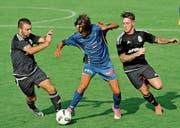 Erfreulich, dass immer mehr Mannschaften eigene junge Spieler ins Kader nehmen und diese – wie Timon Kamm (FC Sirnach blau) – Einsatzzeiten bekommen. (Bild: Urs Nobel)