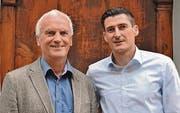 A plus tritt bei den Kommunalwahlen im Herbst erneut mit Stadtrat Ruedi Dörig (links) und neu mit Alex Schnyder für die GPK Stadt an. (Bild: pd)