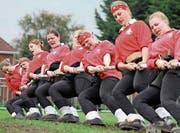 Die Schweizer Frauen in der Kategorie bis 560 kg auf dem Weg zum Europameistertitel. (Bild: PD)
