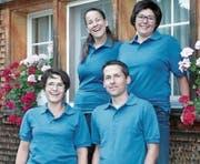 Das OK der Sommer-Chilbi Hemberg freut sich auf das kommende Fest: Maria Raschle, Nicole Frey, Alexis Frischknecht sowie Martina Langenegger (von links). (Bild: PD)