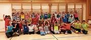 Die Primarschüler aus St. Peterzell erlebten eine tolle Turnstunde mit der Sportgruppe Procap. (Bild: PD)