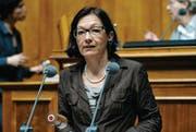 Die Wiler Nationalrätin Yvonne Gilli während einer Debatte im Nationalrat. (Bild: ky/Lukas Lehmann)