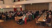 Rund 80 Personen hatten sich für den Beirat zum Projekt Thursanierung angemeldet. (Bild: Martin Knoepfel)