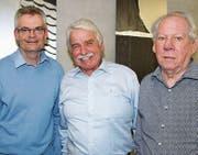 Sie informierten über die Alterssiedlungen: Adrian Müller, Leo Senn und Ruedi Benz (von links). (Bild: Philipp Stutz)
