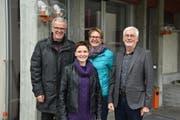 Vier von acht Mitgliedern des Organisationskomitees (von links): Willy Hollenstein, Präsident; Jacqueline Gübeli, künstlerische Leitung; Ruth Breitenmoser, Catering; Willy Schönenberger, Dokumentation. (Bild: Anina Rütsche)
