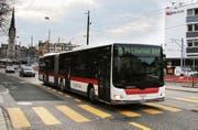 Die Busse der Linie 151 sollen künftig nicht am Hauptbahnhof wenden, sondern via Marktplatz zum Spisertor fahren. (Bild: David Gadze)